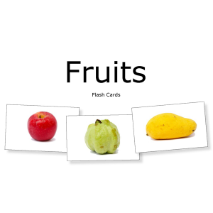 Little Day Out Flash Cards: Fruits (Volume 1)