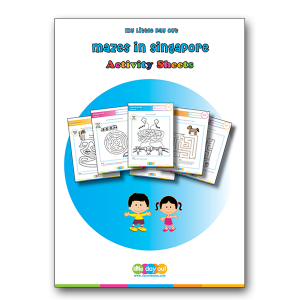 My Little Day Out Mazes in Singapore Activity Sheets