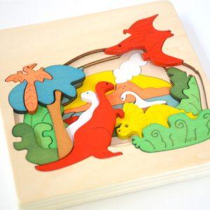 Dino Wooden Jigsaw 2