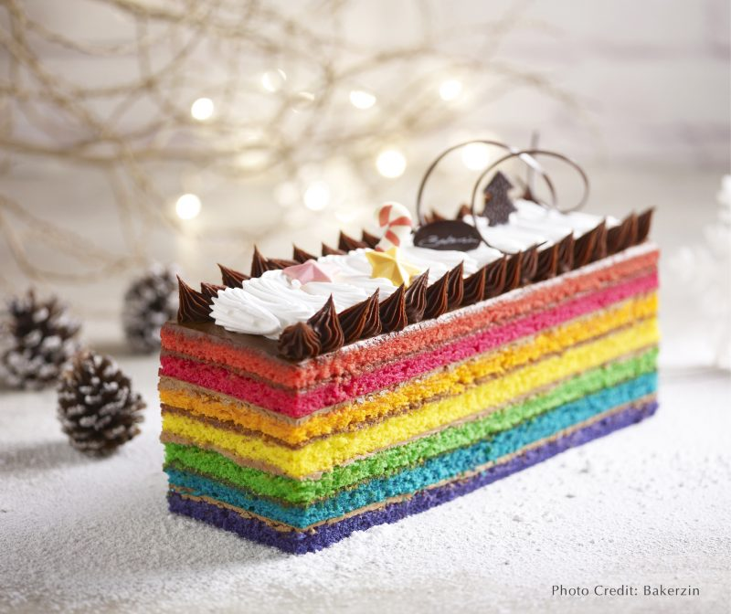 Bakerzin Rainbow Yule Log